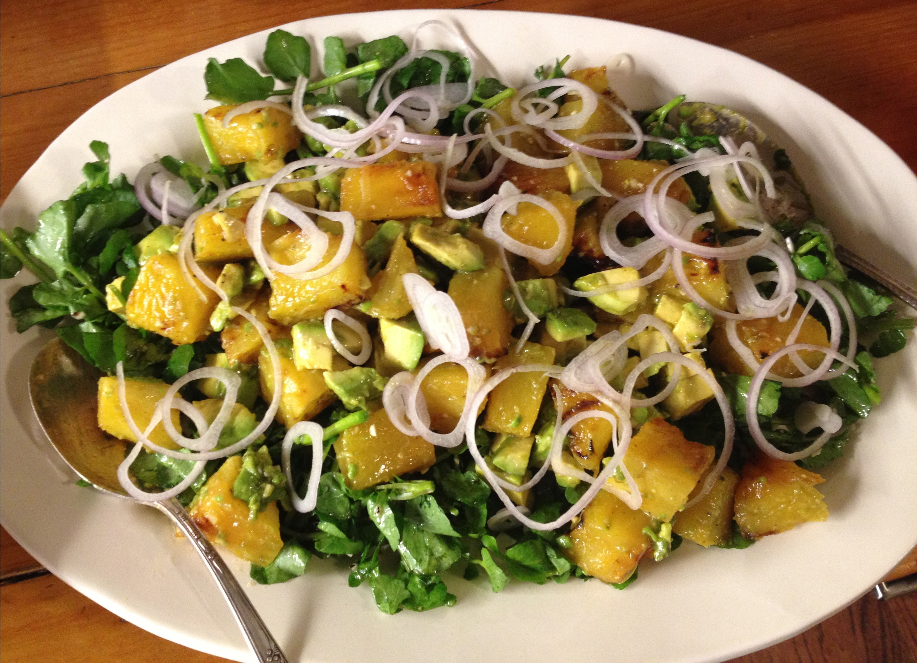 Salad With Watercress, Oranges, Avocado, And Almonds, With Citrus ...