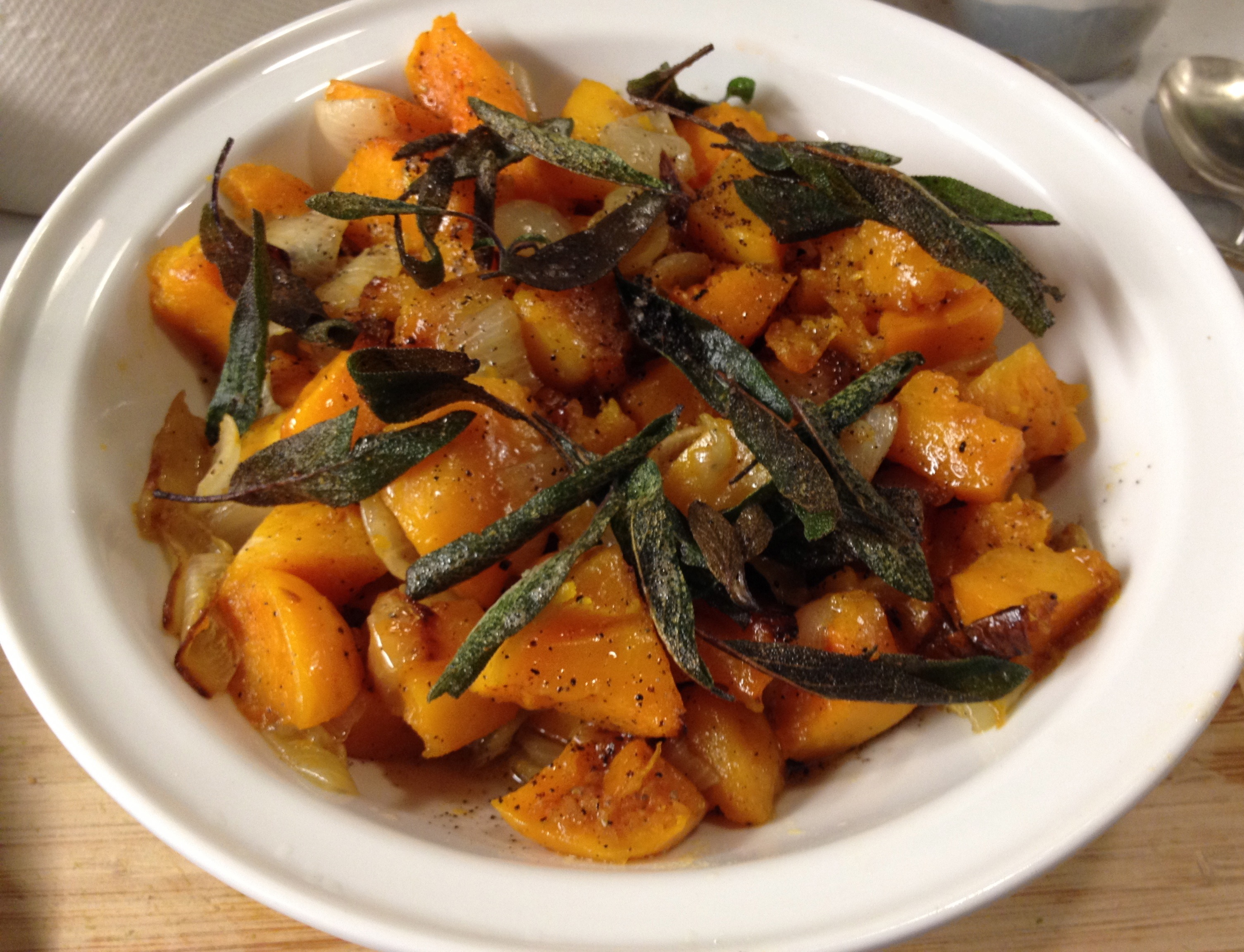 ... Butternut Squash with Crispy Sage Leaves - LOVE-the secret ingredient