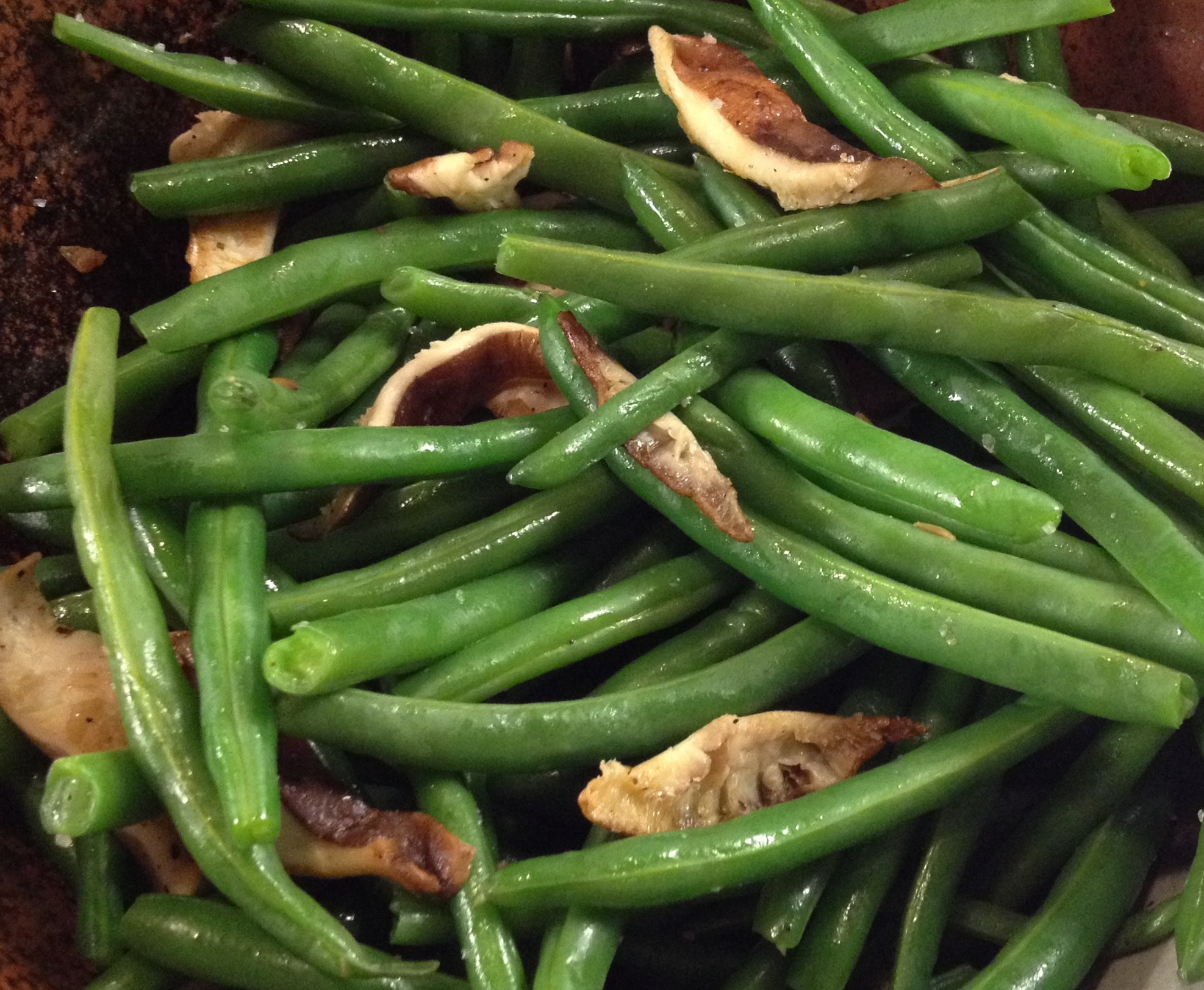 Green Beans and Shiitake Mushrooms - LOVE-the secret ingredient