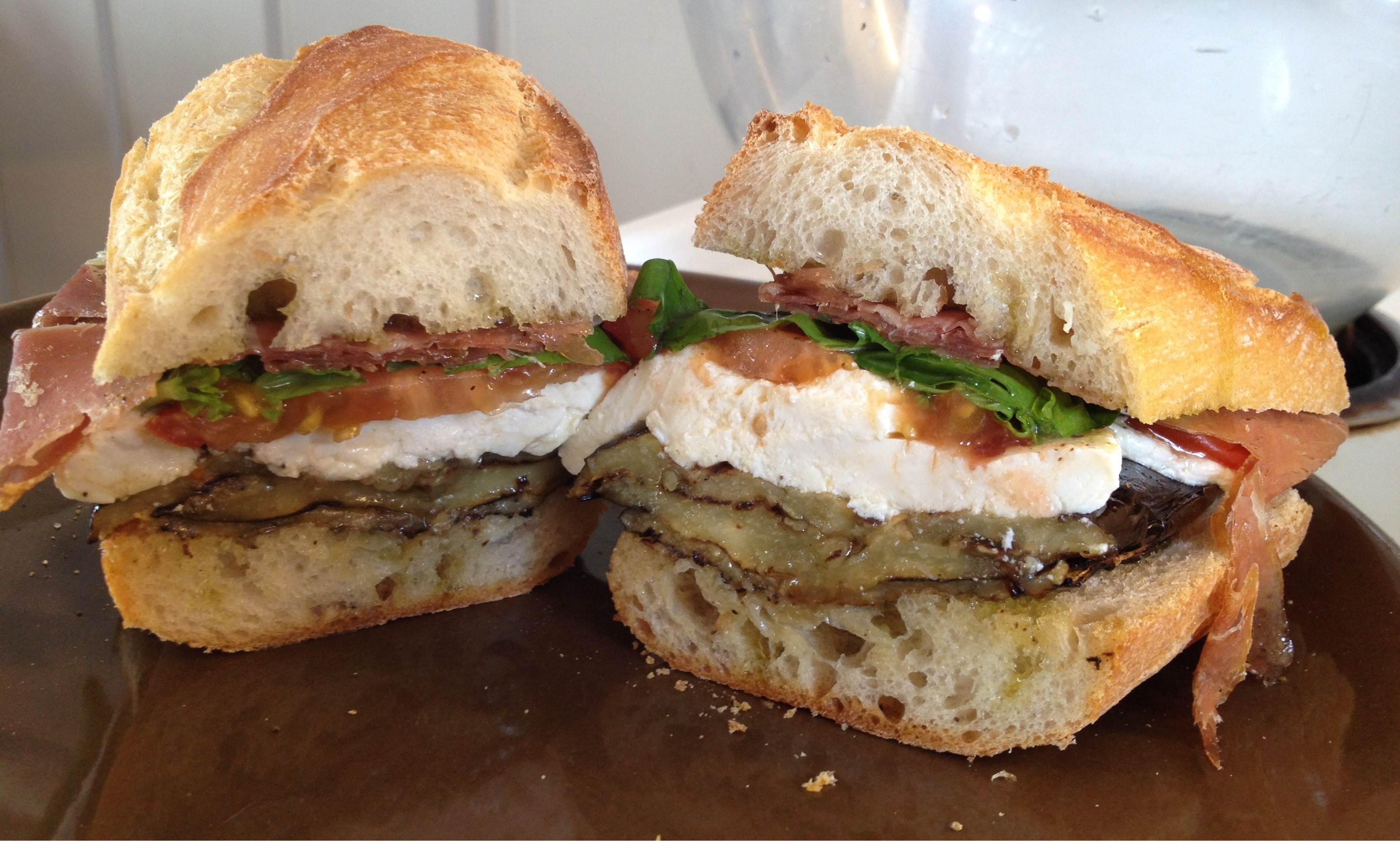Grilled Eggplant, Broccoli Rabe, And Mozzarella Sandwich Recipe ...