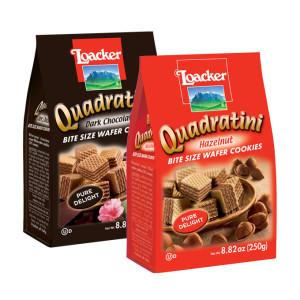 Loacker Quadratini wafer cookies