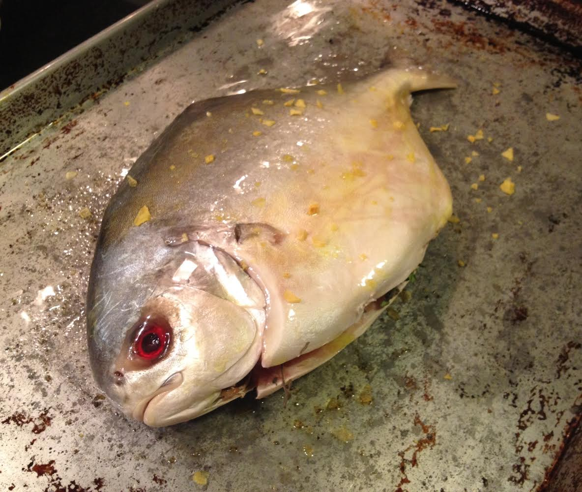 Falksalt Citron on Roasted Pompano