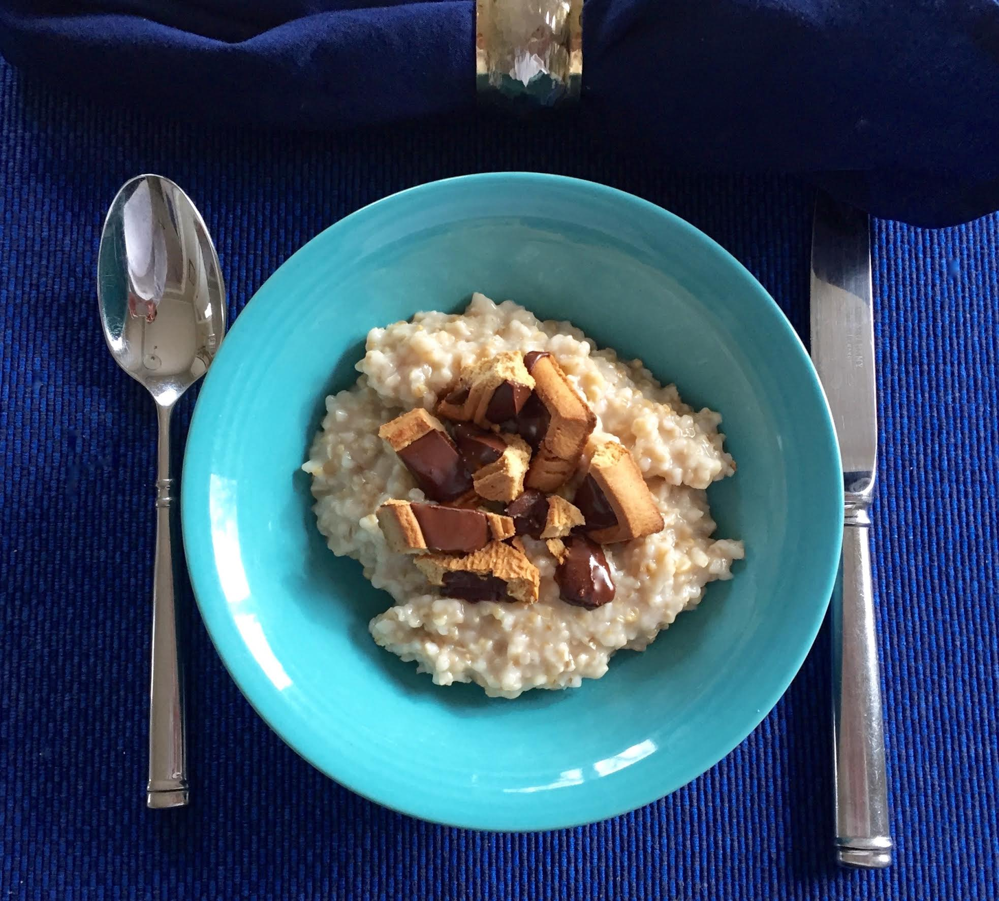 Decadent Oatmeal with Michel et Augustin Cookie Squares