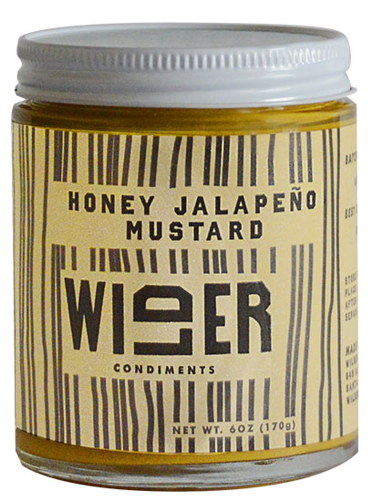 Wilder Honey Jalepeno Mustard.